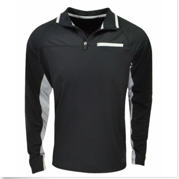 Fila Other - Fila Men's 1/4 Zip Pullover Athletic Shirt Black